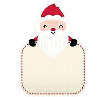 Retro Santa greeting card template Photographic Print