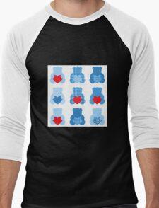Cute Love Teddy Bear collection Men's Baseball ¾ T-Shirt