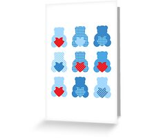 Cute Love Teddy Bear collection Greeting Card