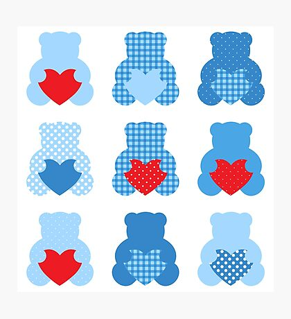 Cute Love Teddy Bear collection Photographic Print