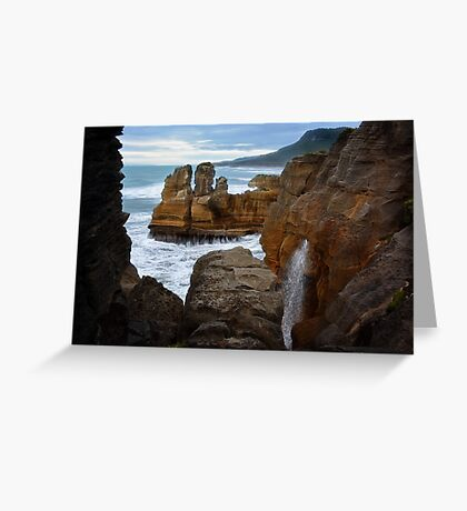 Punakaiki Pancake Rocks Greeting Card