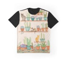 Cats and Cacti Graphic T-Shirt