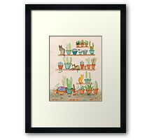 Cats and Cacti Framed Print