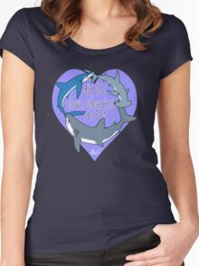 Girls Love Sharks Too! Women's Fitted Scoop T-Shirt