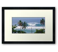 Surfer at Tres Palmas Framed Print