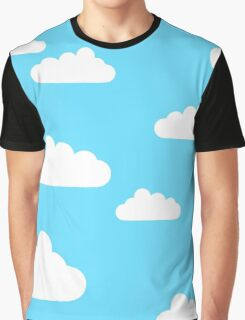 Cartoon Clouds Graphic T-Shirt