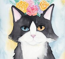 Springtime Tuxedo Cat by Ryan Conners