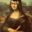 Mona Lisa Graduate with Glasses by Gravityx9