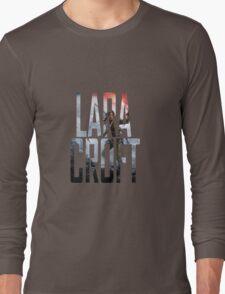 Lara Croft Text Long Sleeve T-Shirt