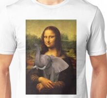 Mona Lisa With Elephant Unisex T-Shirt