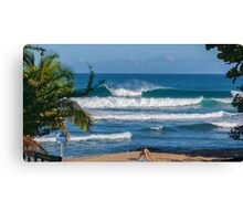 Perfect Wave and Yoga Canvas Print