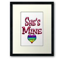 She's Mine (Arrow Pointing Right) Framed Print