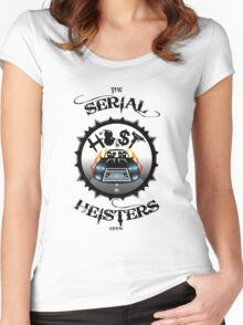 THE SERIAL HEISTERS CREW BLACK Women's Fitted Scoop T-Shirt