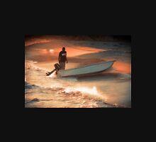 Fisherman on Sunset Coast Unisex T-Shirt
