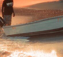 Fisherman on Sunset Coast Sticker