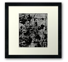 Textured Contrast 1 - Study In Black And White Framed Print