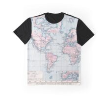 Vintage WW1 Map - Wireless Stations Graphic T-Shirt
