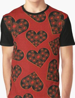 Burning Hearts Graphic T-Shirt