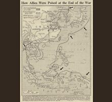 Vintage WW1 Map - End Of The War T-Shirt