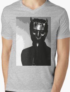 Nameless Ghoul - Black & White Mens V-Neck T-Shirt