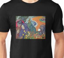 'Promenade in Arles' by Vincent Van Gogh (Reproduction) Unisex T-Shirt