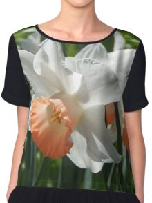 Two-tone Daffodils Chiffon Top