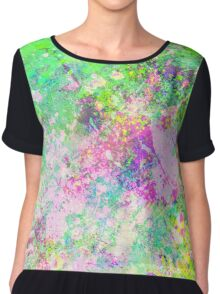 Textured Colour 1 - Study in blue, pink, green and yellow Chiffon Top