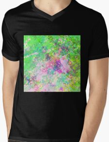Textured Colour 1 - Study in blue, pink, green and yellow Mens V-Neck T-Shirt