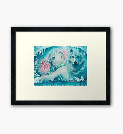 Wolf Dreaming Framed Print