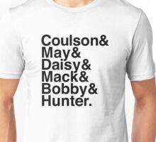 Coulson & May & Daisy & Mack & Bobby & Hunter. (Agents of Shield) Unisex T-Shirt