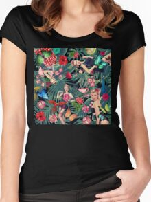 sexy tropic  Women's Fitted Scoop T-Shirt
