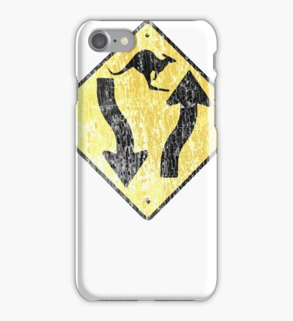 Kangaroo Sign - Urban Grunge iPhone Case/Skin