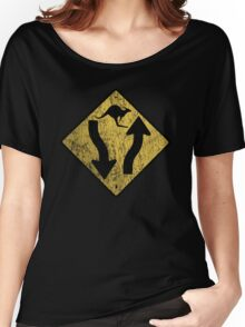 Kangaroo Sign - Urban Grunge Women's Relaxed Fit T-Shirt