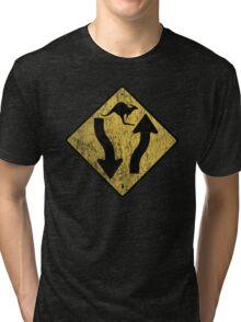 Kangaroo Sign - Urban Grunge Tri-blend T-Shirt