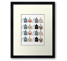 Ed and Al - Chibi expressions Framed Print