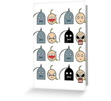 Ed and Al - Chibi expressions Greeting Card