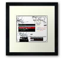Person of Interest Framed Print
