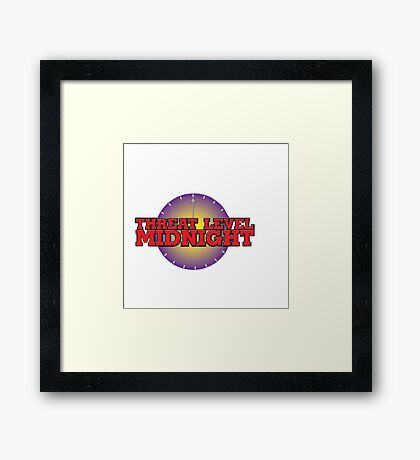 Threat Level Midnight Framed Print