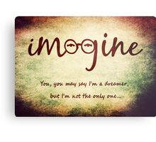 Imagine - John Lennon Tribute Typography Artwork - You may say I'm a dreamer, but I'm not the only one... Metal Print
