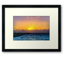 Fremantle Inner Harbour Sunset  Framed Print