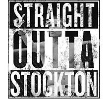 Straight outta stockton overlay Photographic Print