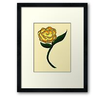 Homespun Rose Framed Print
