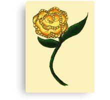 Homespun Rose Canvas Print