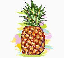 Cute Colorful  Pineapple Watercolors Illustration Unisex T-Shirt