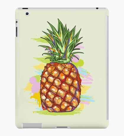 Cute Colorful  Pineapple Watercolors Illustration iPad Case/Skin