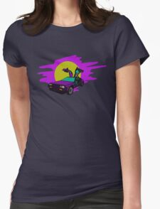 Retro Delorean Womens Fitted T-Shirt