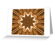 Bronze Star Greeting Card