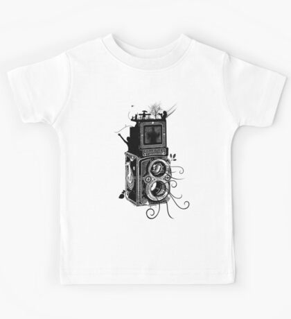 Retro Rolleiflex - Evolution of Photography - Vintage Kids Tee