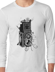 Retro Rolleiflex - Evolution of Photography - Vintage Long Sleeve T-Shirt
