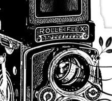 Retro Rolleiflex - Evolution of Photography - Vintage Sticker